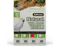 ZuPreem Natural - Complete Food for Parrots 9,1 kg.
